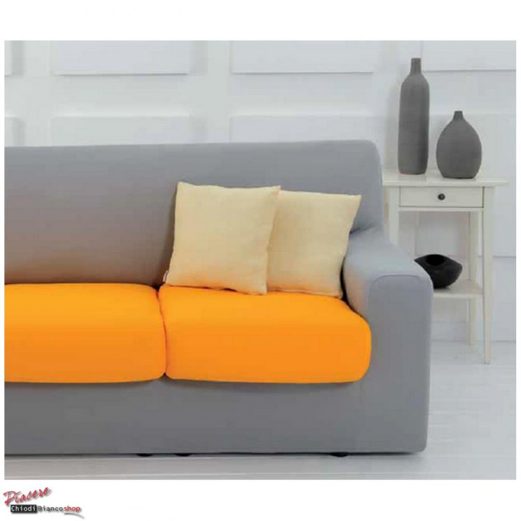 Copridivano smile colorati tinta unita chiodi bianco casa - Copricuscini divano genius ...