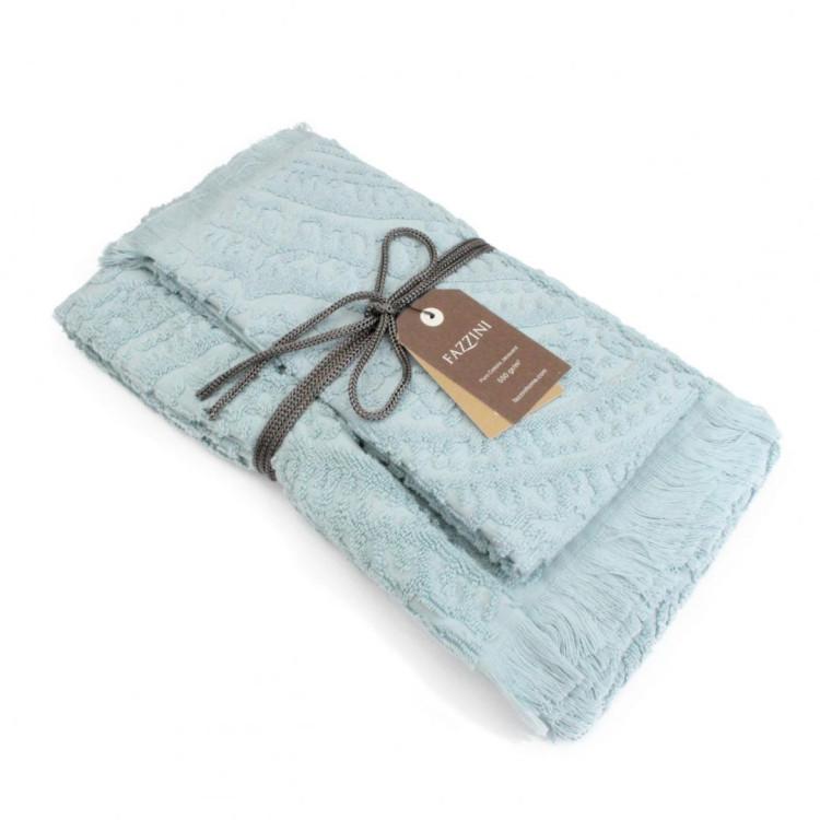 Coppia di asciugamani da bagno dafne fazzini - Asciugamani da bagno ...